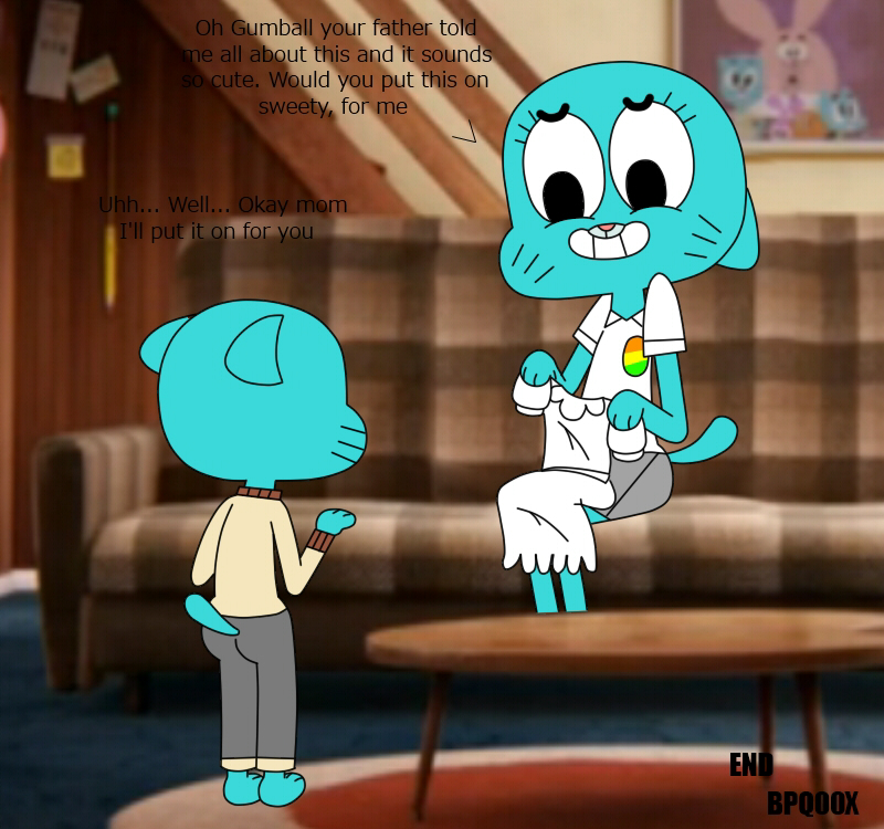 the world the amazing gripes of gumball Who is chroms younger sister