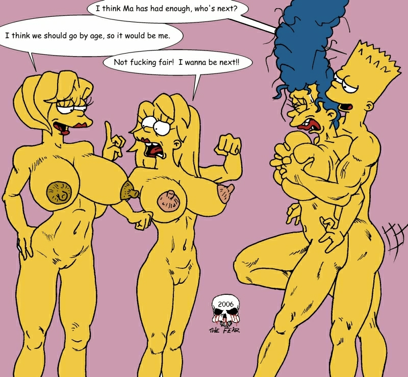 with marge bart naked simpson Five nights at freddy's naked girls