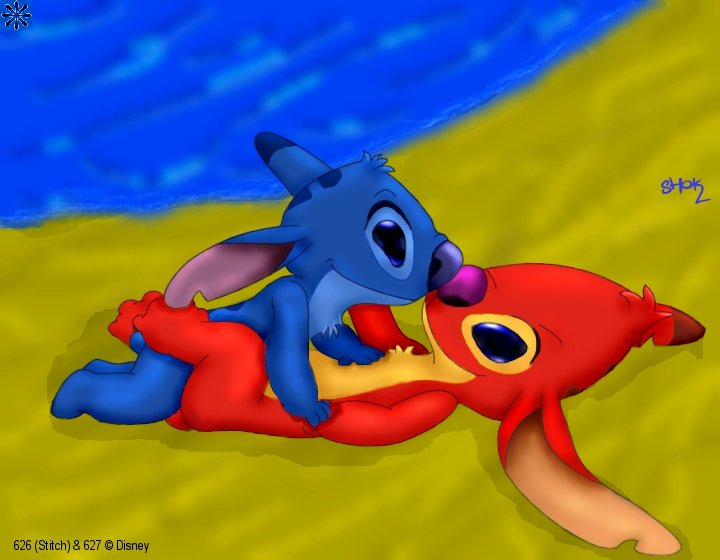 stitch and lilo porn pic Ass up face down naked