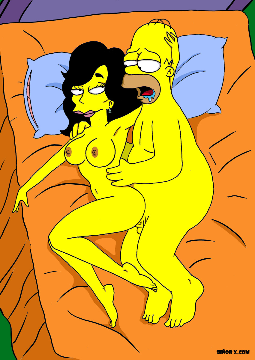 naked the marge simpsons from Spider man web of shadows carnage
